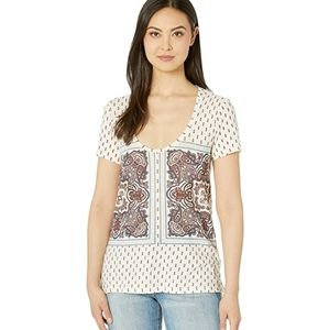 NWT Lucky Brand Printed Top sz XS